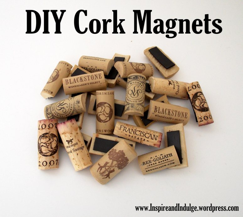 Cork Magnets via InspireandIndulge.wordpress.com